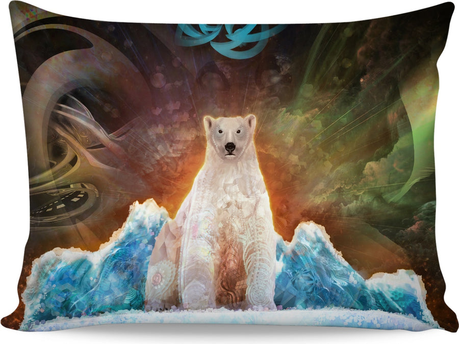 Stranded Polar Bear Custom Pillowcase