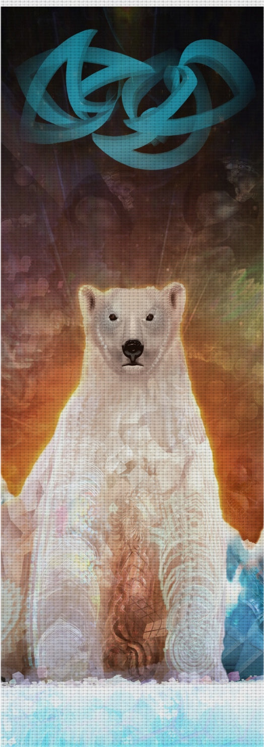 Stranded Polar Bear Custom Yoga Mat