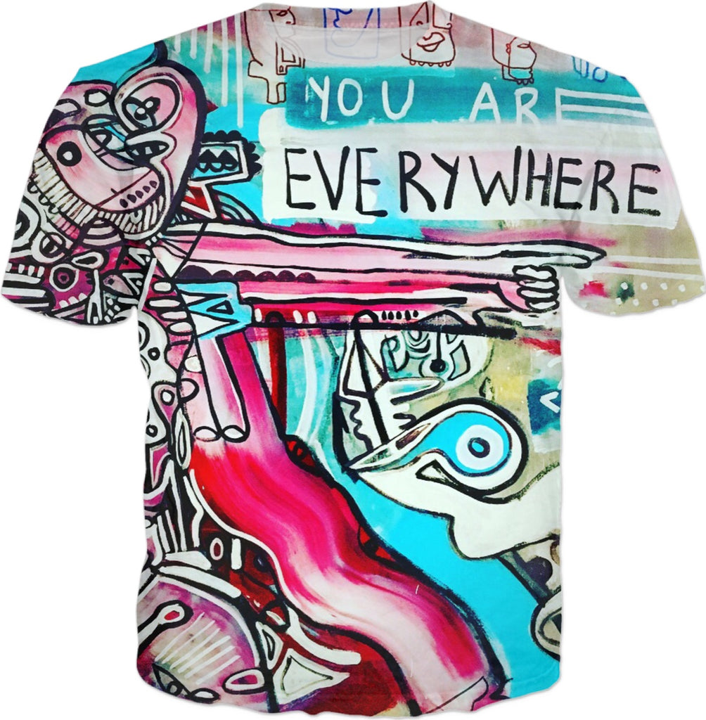 Everywhere Painting On A Mens Teeshirt