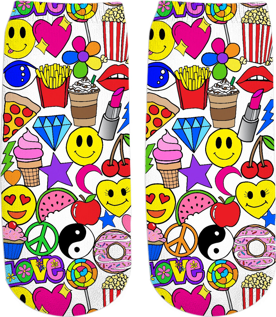 Emoji Love Ankle Socks