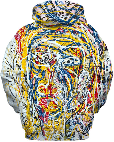 Amazed A Painting On A Hoodie By Antovitko