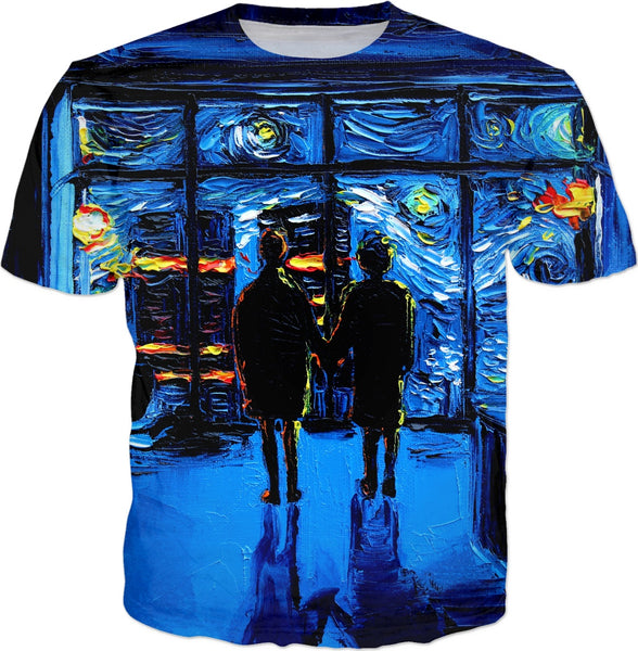 Starry Night Mashup van Gogh Never Watched The World Burn