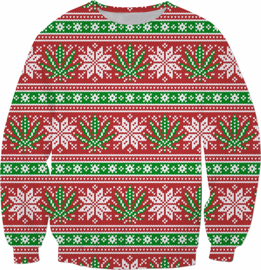 Christmas weed sweater #ROXmasContest