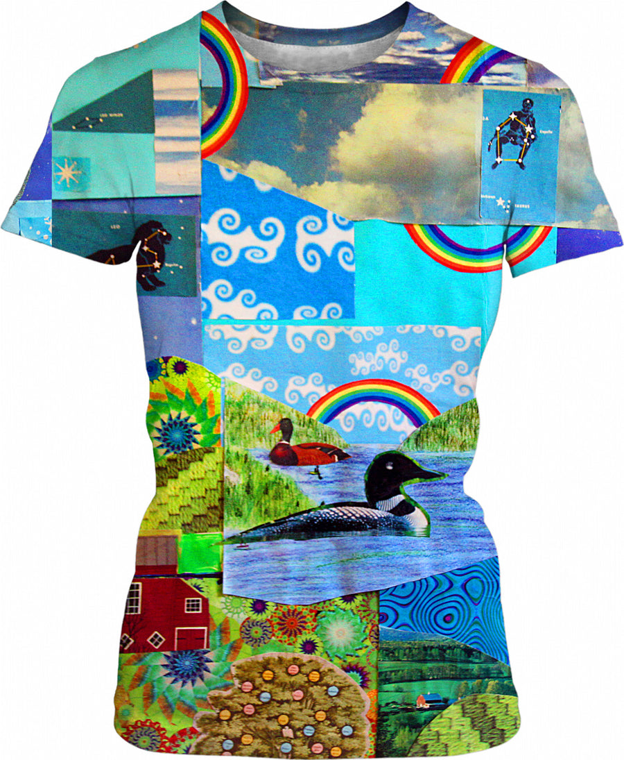 Loon Lake Collage Womens T-Shirt