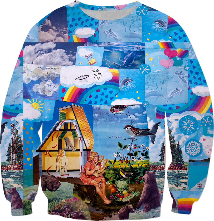 Sky is Blue Collage Sweatshirt