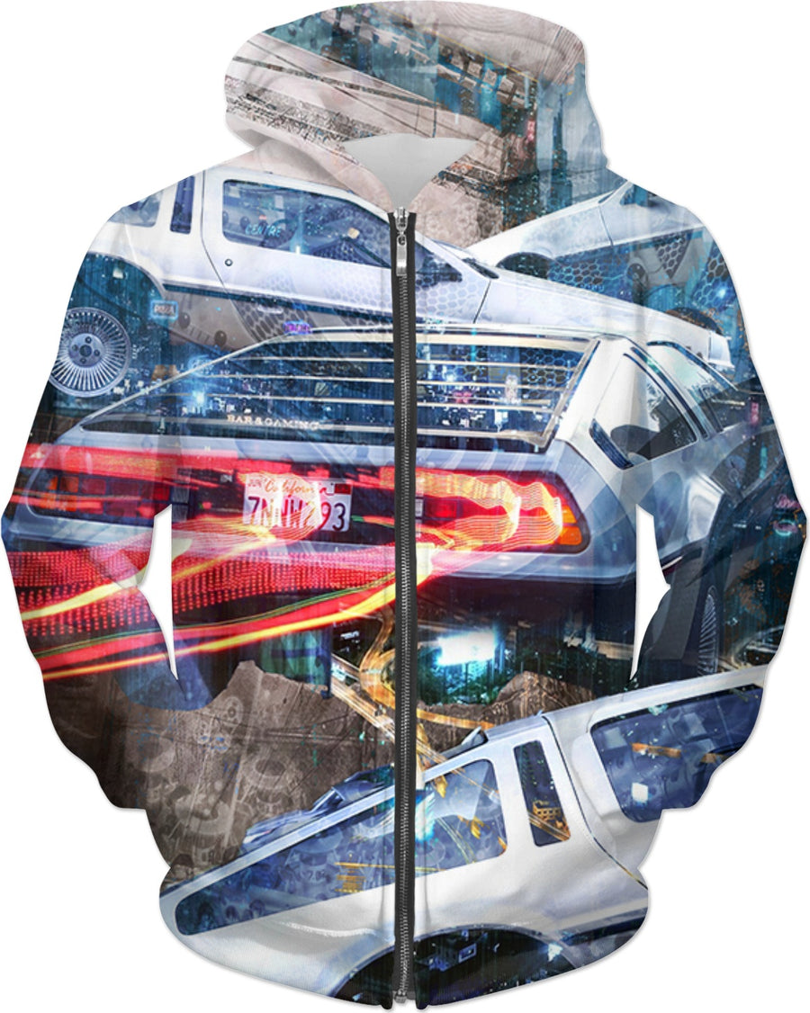 Dirty Soap's Time Traveler DeLorean Hoodie
