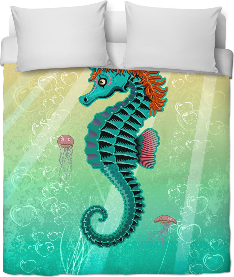 Sea Unicorn Custom Duvet Cover