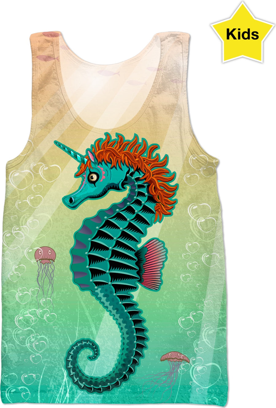 Sea Unicorn Custom Kids Tank Top