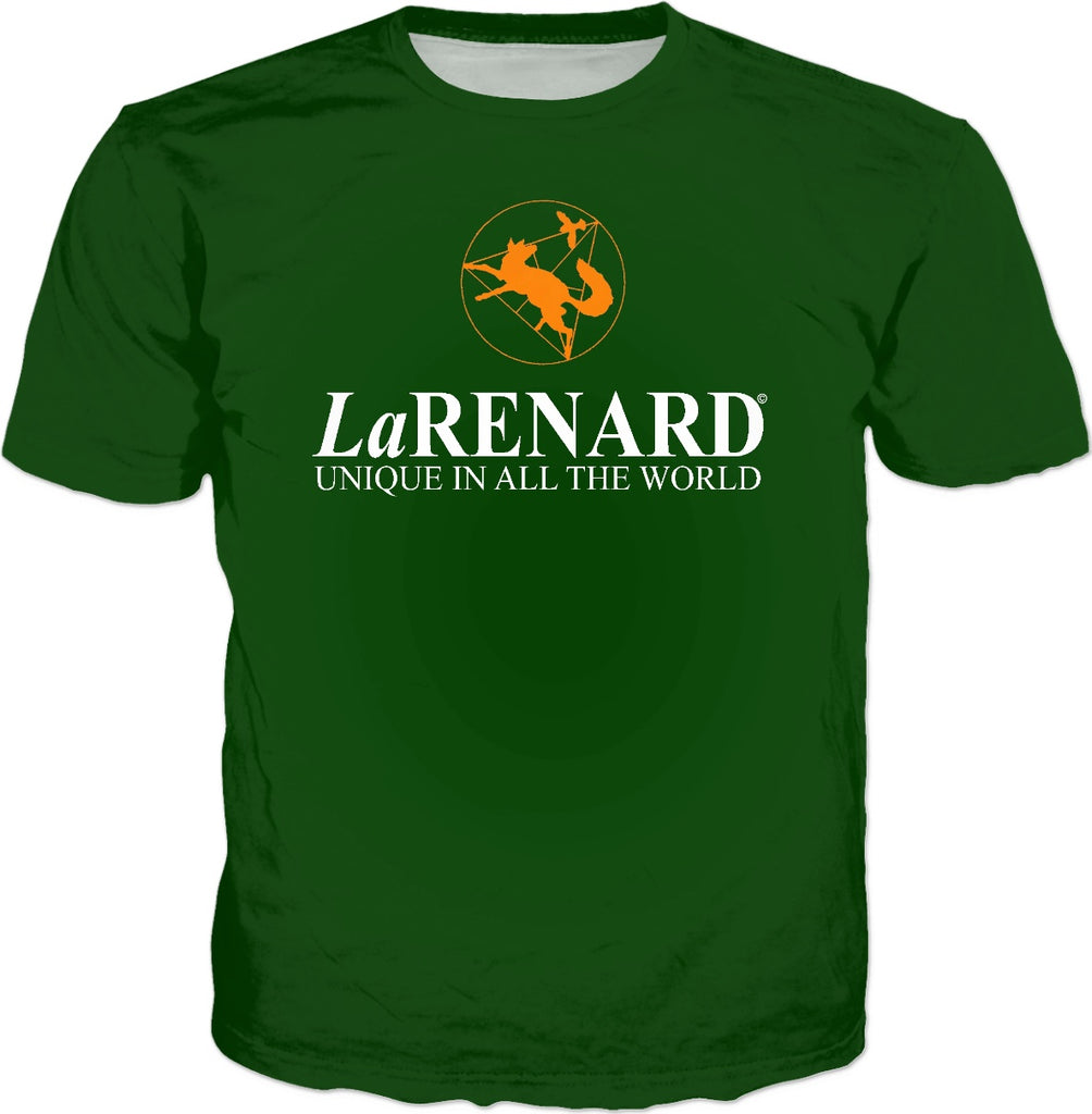 Flower of life logo & legend - LaRenard Sportswear - Green & Orange Mens Tee