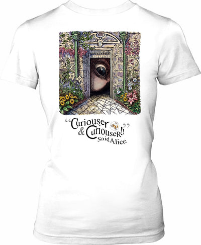 Curiouser & Curiouser - English Gothic - by LaRenard - Ladies Tee
