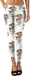 Butterflies on Peonies - English Gothic - by LaRenard - Leggings & Dress