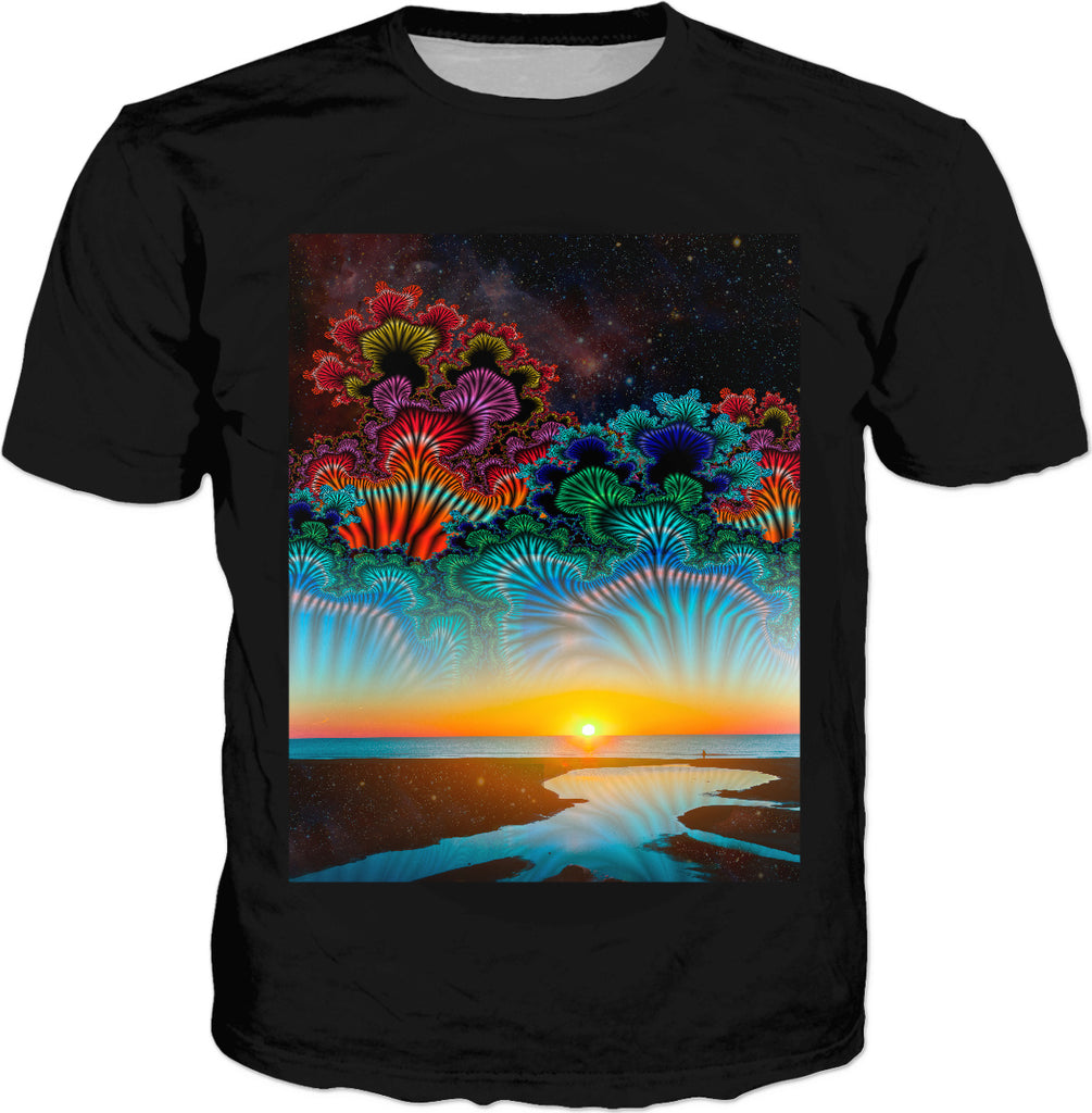 Daybrreak at the Edge of the Universe Classic T-Shirt Black