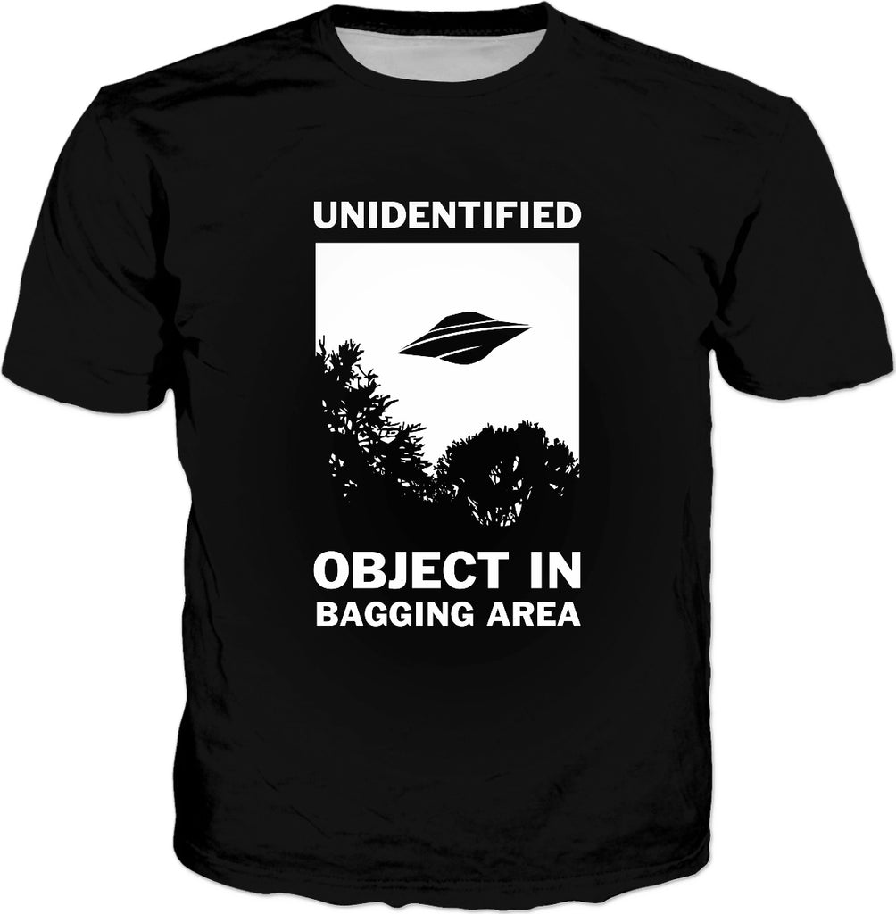 Unidentified Object In Bagging Area T-Shirt - UFO Aliens