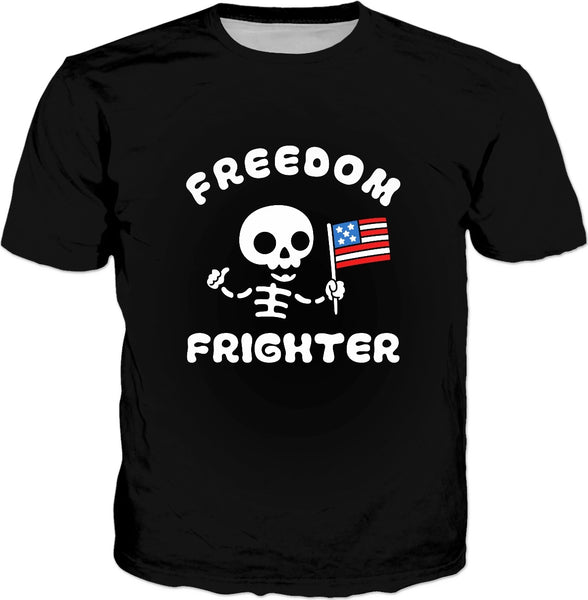 Freedom Frighter T-Shirt - Funny Halloween Pun USA