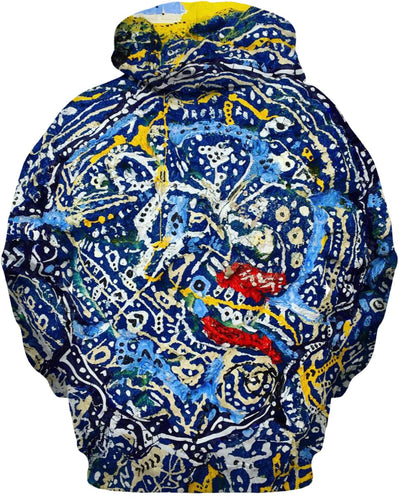 Shamans Boulder Painting On A Hoodie By Antovitko