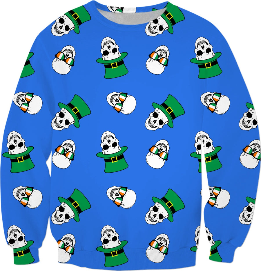 St. Paddy's Day Skulls Blue (all items)