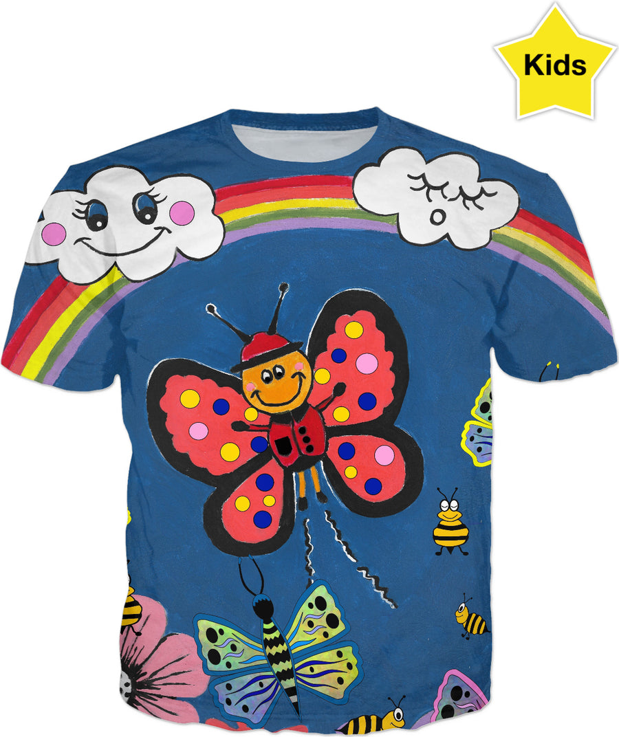 Butterfly Greetings - Kids T-Shirt