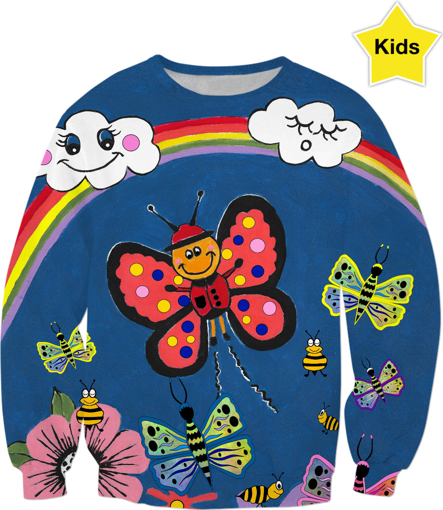 Butterfly Greetings - Kids Sweater