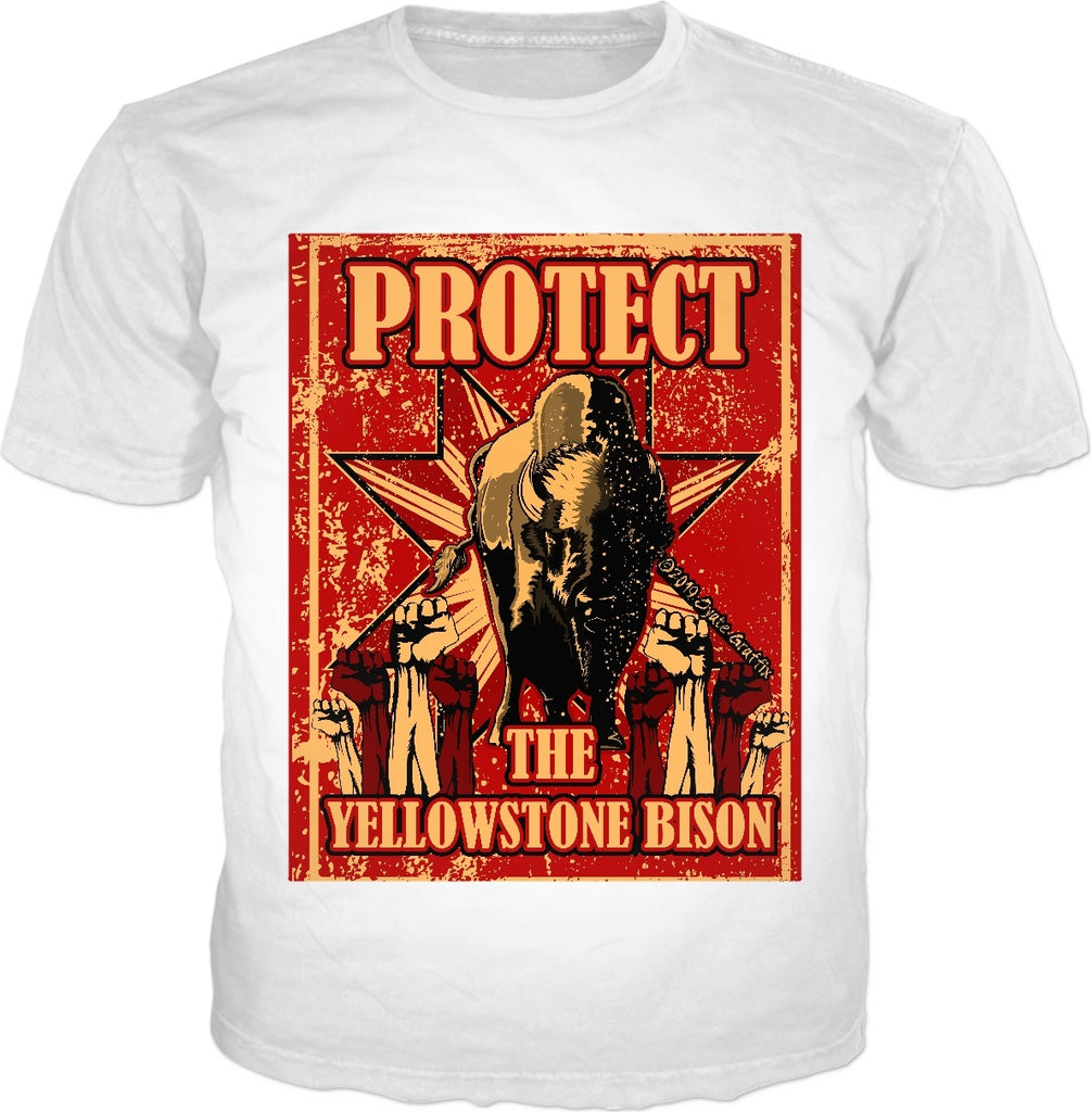 Oyate Graffix 'Protect The Yellowstone Bison' Classic White Tee