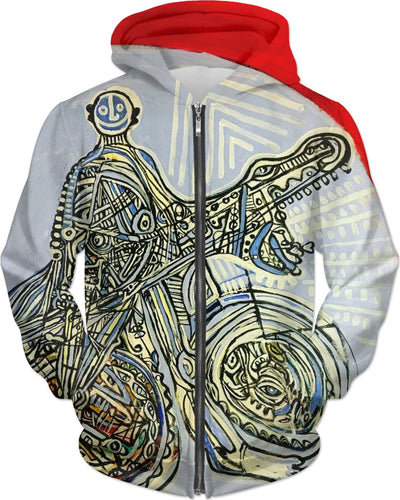 Time Traveler hoodie by a New York Tribal Expressionist Artist @antovitkomerch