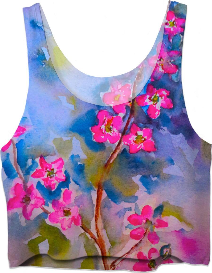 Watercolor Flowers - Crop Top