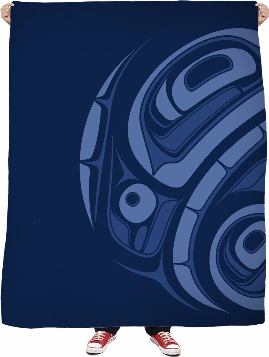 cerulean eagle drummer fleece blanket