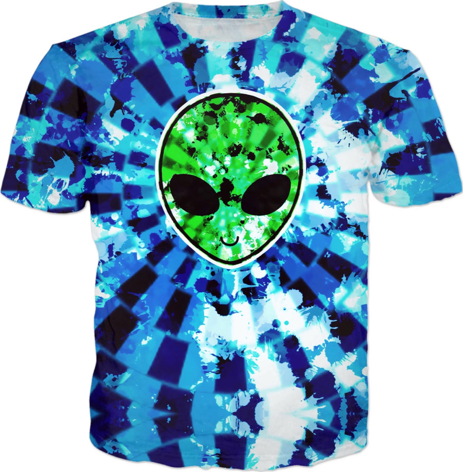 Acid Wash Alien Tie-Dye (Blue & Green)
