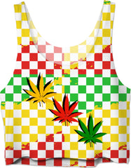 Rasta Weed Crop Top #RageOnWeedContest2019