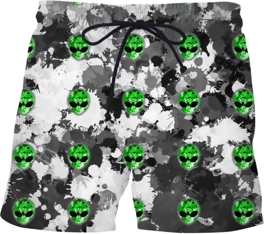 Alien Splatter Swim Shorts