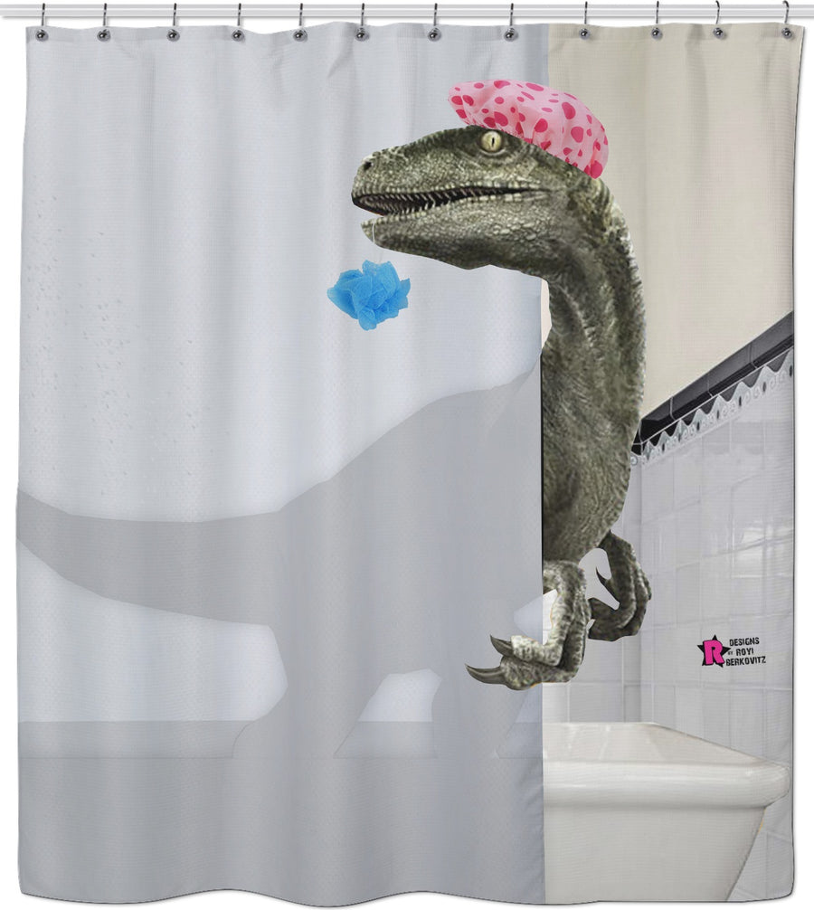 Velociraptor - Shower Curtain