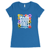 Good Vibes Blue Scoop Neck Women's Tee