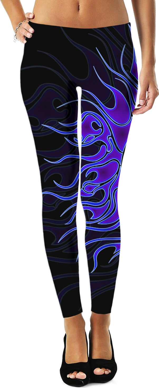 Blue Flame - Yoga Leggings