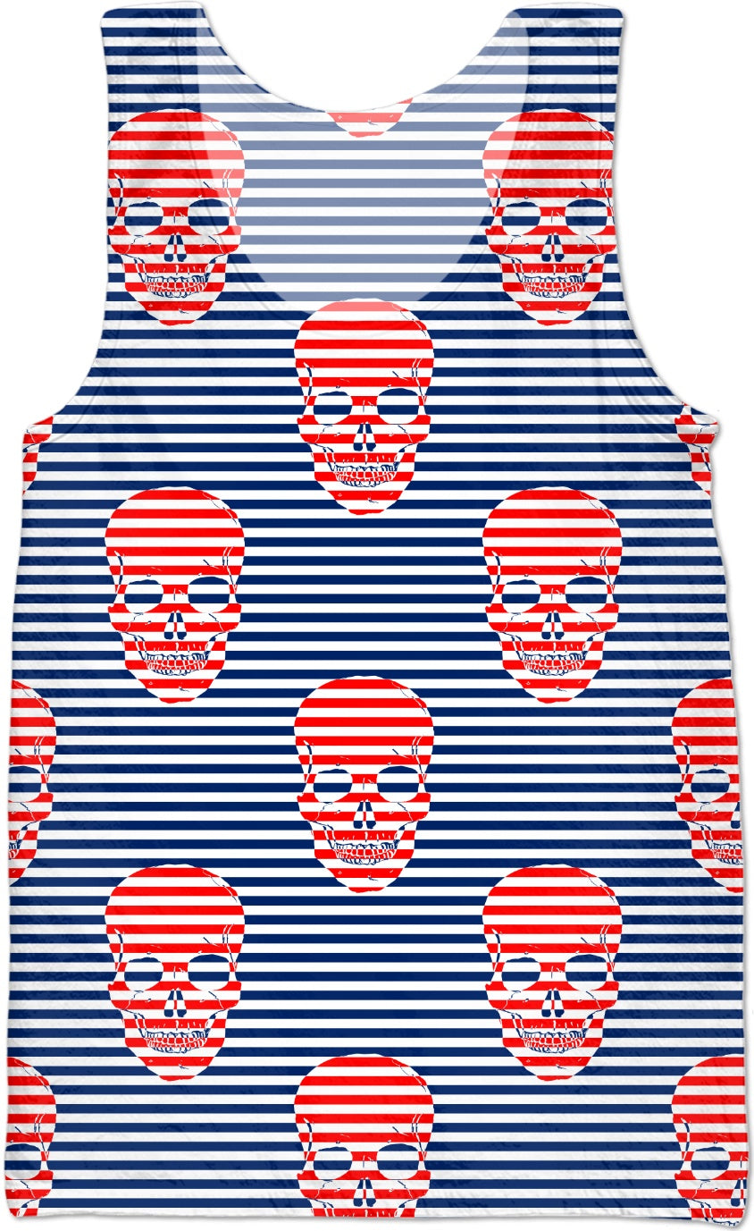 red white and blue skull stripes (all items)