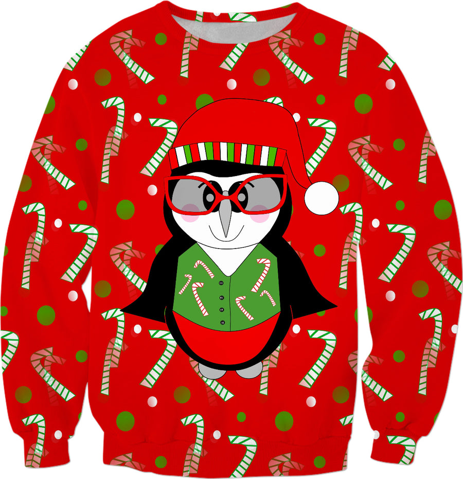 A Cool Penguin Christmas Sweater