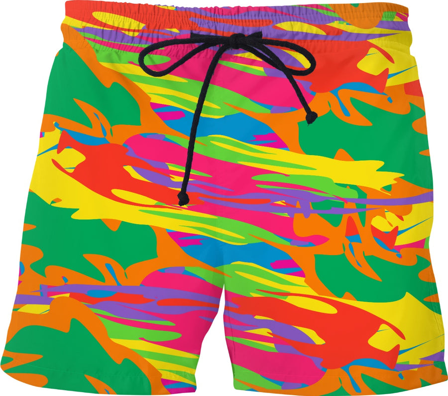 crazy camouflage trunks