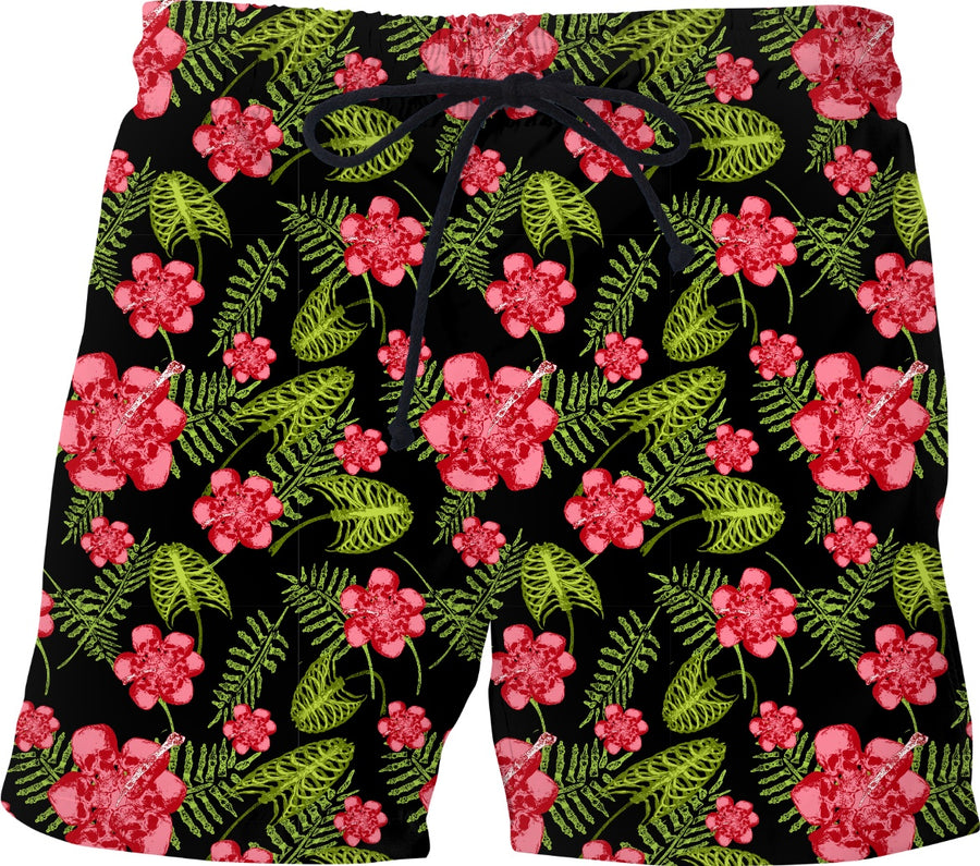 death in paradise Hawaiian shorts