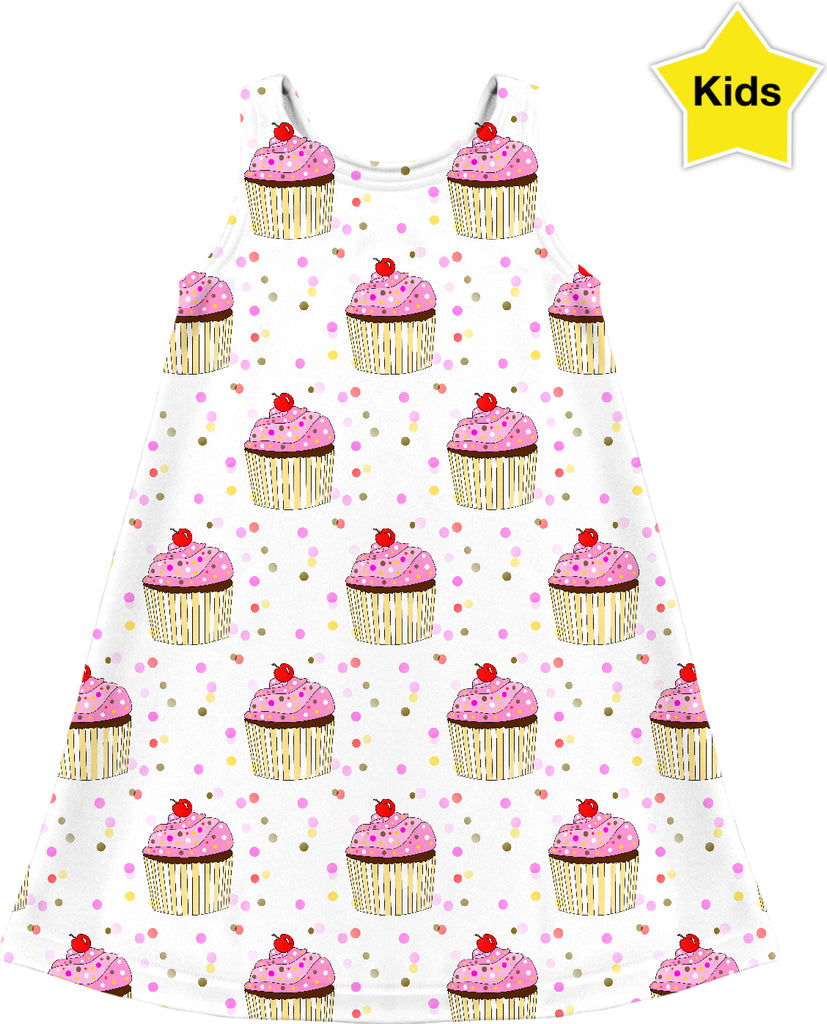 Cupcake Party Kids Dress