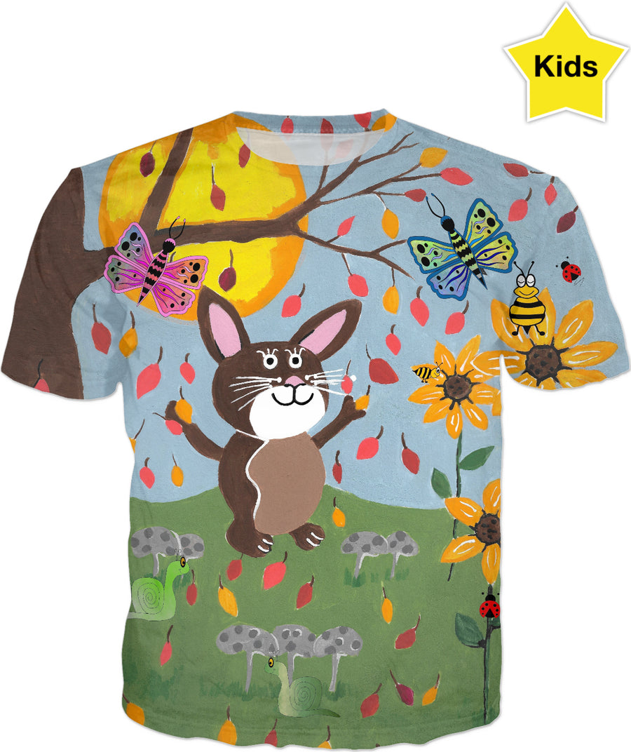 Autumn Bunny Kids T-Shirt