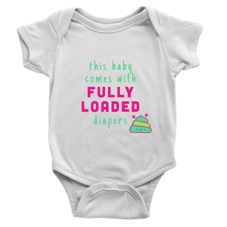 FULLY LOADED Baby Onesie