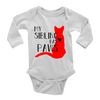 My Sibling Has Paws Baby Onesie