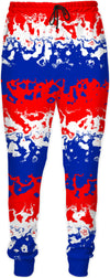 Red White Blue Abstract Joggers