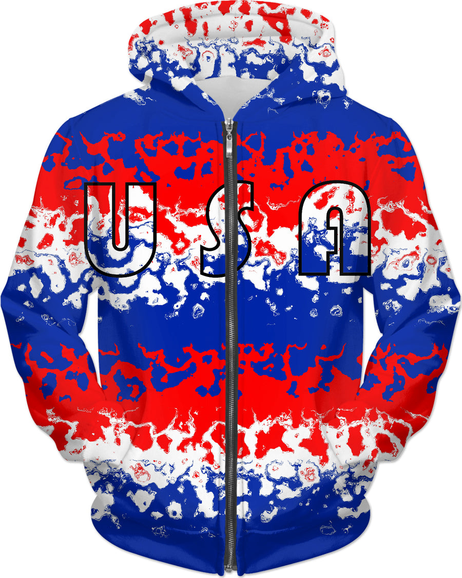 Red White Blue USA Hoodie