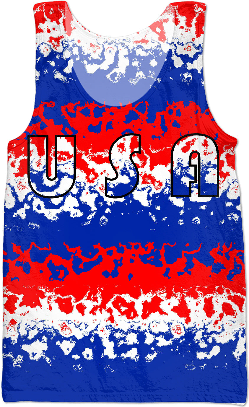 Red White Blue USA Tank Top