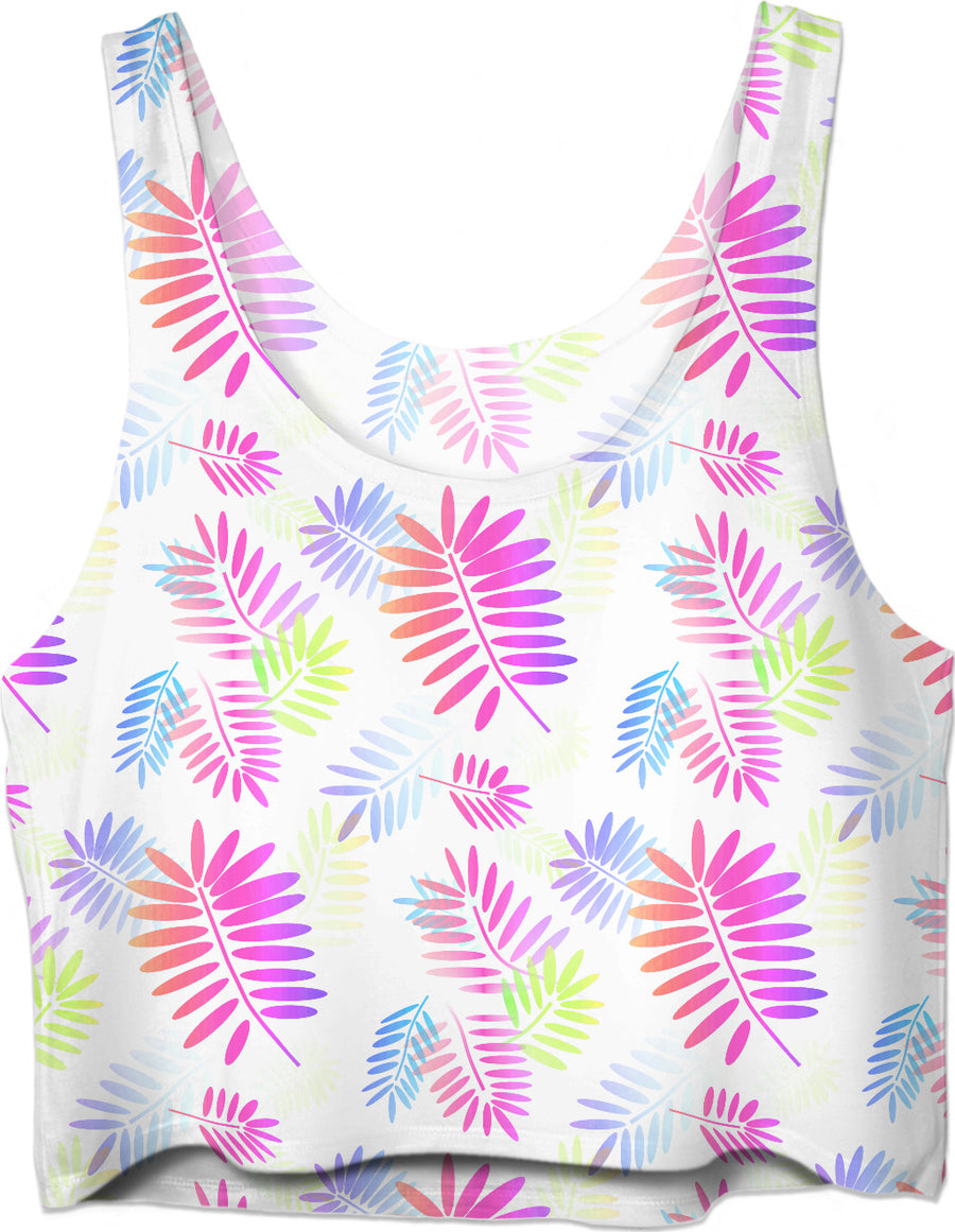 Tropical Explosion Of Color Crop Top