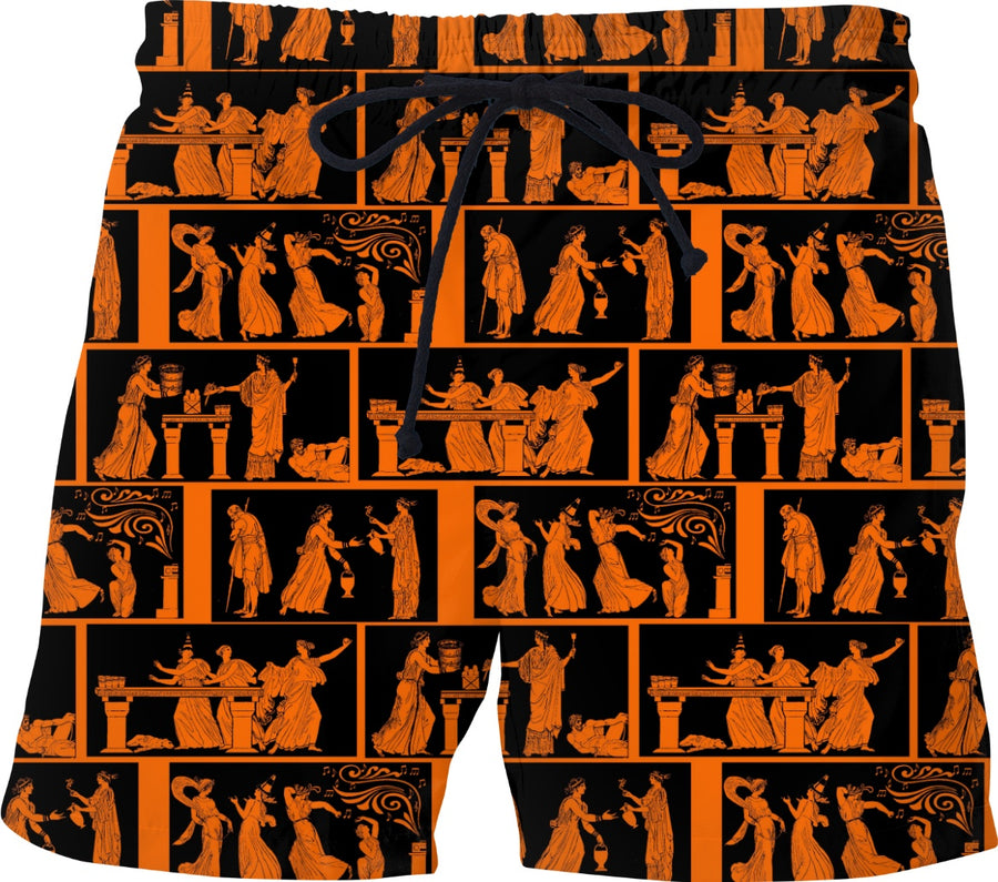 toga party swim trunks