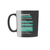 Graphic Designer Naming Conventions Mug - Black with Teal/White