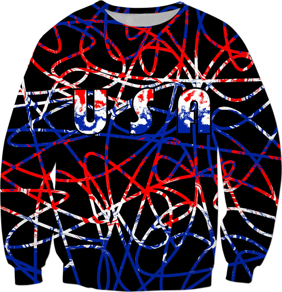 USA On Abstract Sweatshirt