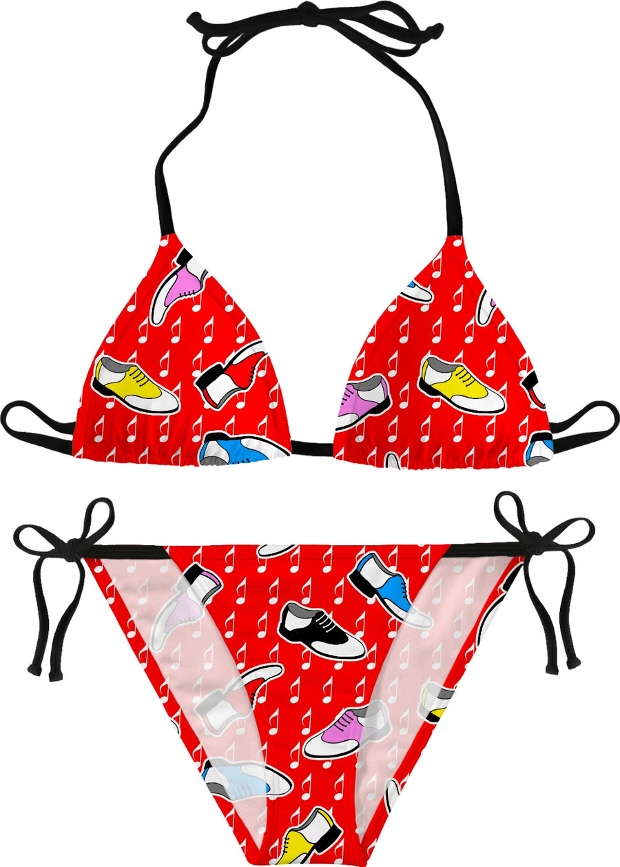 red sock hop bikini