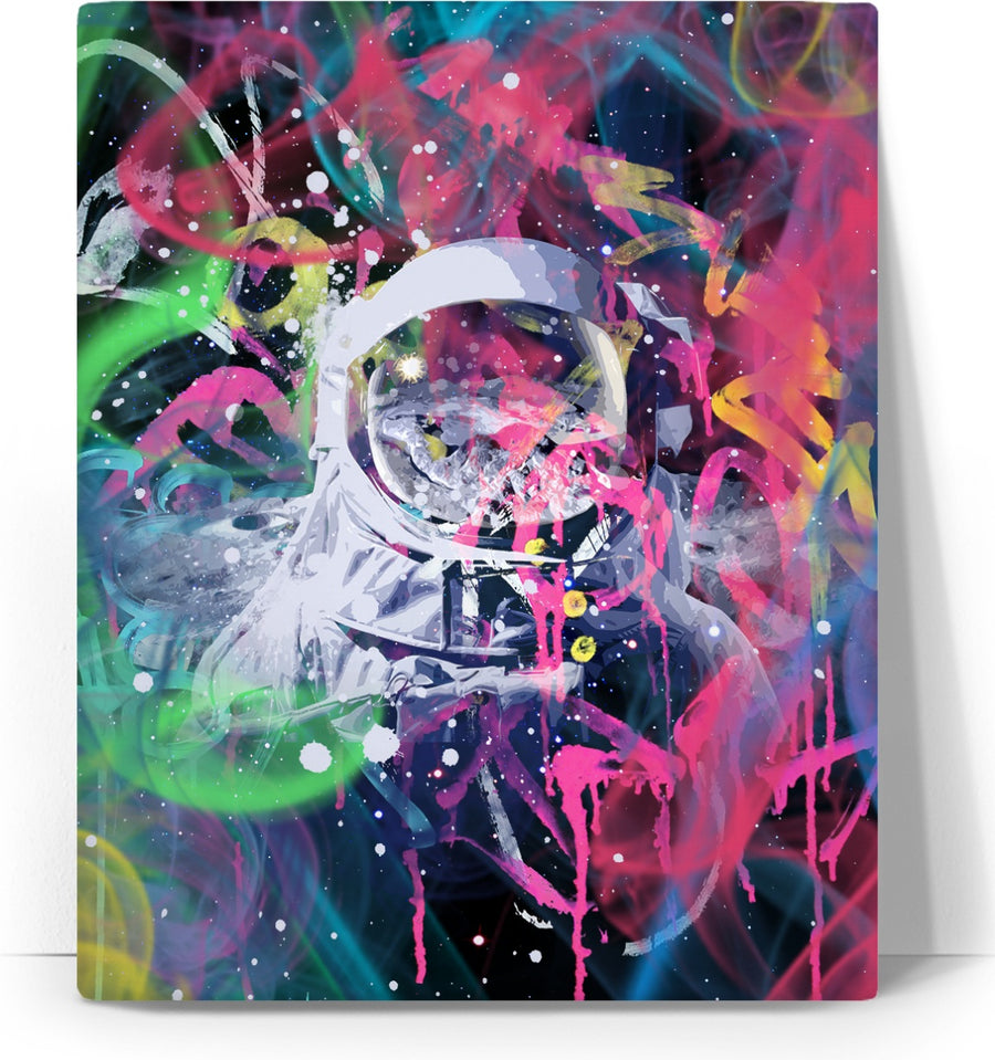 Colorful Astronaut Custom Canvas
