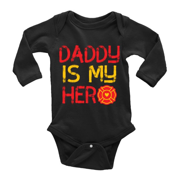 Daddy Is My Hero Firefighter Onesie